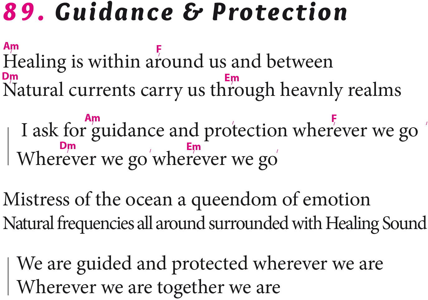 Guidance & Protection